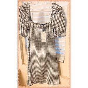 ZARA  short-sleeve, Off-shoulder summer dress NWT!